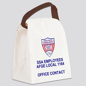 AFGE1164OfficeContact Canvas Lunch Bag