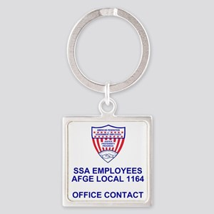 AFGE1164OfficeContact Square Keychain
