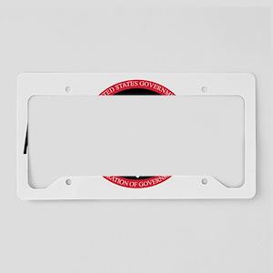 AFGE1336BlackCap2 License Plate Holder