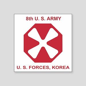 """Army8thArmyShirt1 Square Sticker 3"""" x 3"""""""