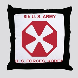 Army8thArmyShirt1 Throw Pillow