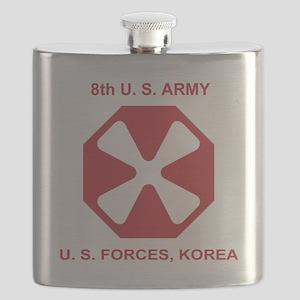 Army8thArmyShirt1 Flask