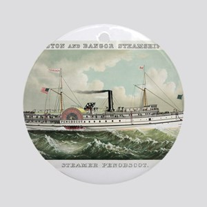 Steamer Penobscot - 1883 Round Ornament