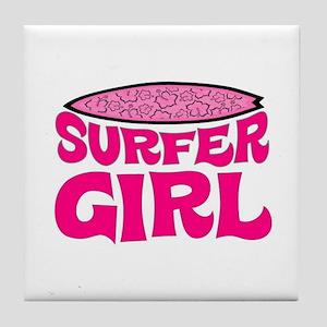 SURFER GIRL Tile Coaster