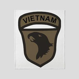 Army101stAirborneVietnamPatchBonnie. Throw Blanket