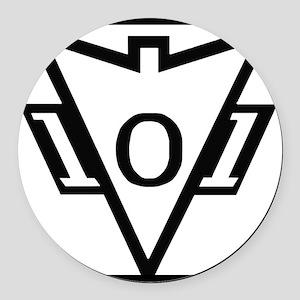 my101stAirborneDivisionRecondoSch Round Car Magnet