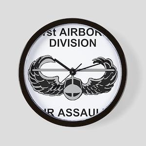 Army101stAirborneDivShirt3 Wall Clock