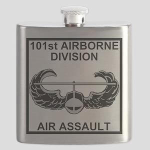 Army101stAirborneDivShirt3 Flask
