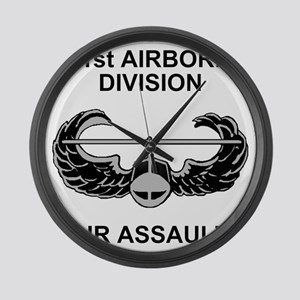 Army101stAirborneDivShirt3 Large Wall Clock