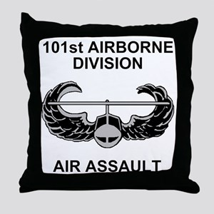 Army101stAirborneDivShirt3 Throw Pillow