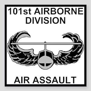 "Army101stAirborneDivShir Square Car Magnet 3"" x 3"""