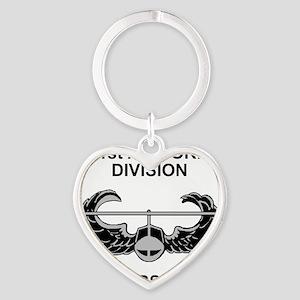 Army101stAirborneDivShirt3 Heart Keychain