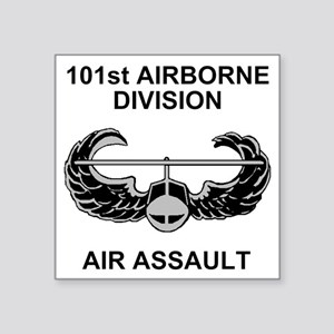 "Army101stAirborneDivShirt3. Square Sticker 3"" x 3"""