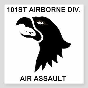 "Army101stAirborneDivisio Square Car Magnet 3"" x 3"""