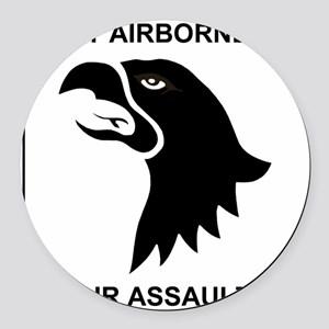 Army101stAirborneDivisionShirtBac Round Car Magnet