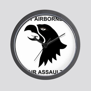 Army101stAirborneDivisionShirtBack Wall Clock