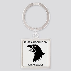 Army101stAirborneDivisionShirtBack Square Keychain