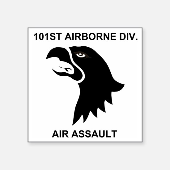 """Army101stAirborneDivisionSh Square Sticker 3"""" x 3"""""""