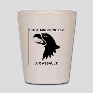 Army101stAirborneDivisionShirtBack Shot Glass