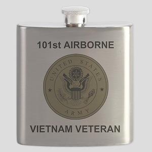 Army101stAirborneVietnamShirtbackSubdued Flask