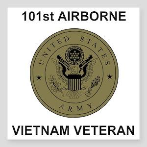 "Army101stAirborneVietnam Square Car Magnet 3"" x 3"""