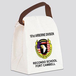 Army101stAirborneRecondoShirtBack Canvas Lunch Bag