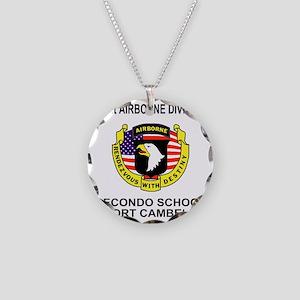 Army101stAirborneRecondoShir Necklace Circle Charm