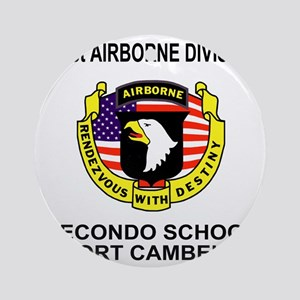 Army101stAirborneRecondoShirtBackCo Round Ornament
