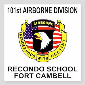 "Army101stAirborneRecondo Square Car Magnet 3"" x 3"""
