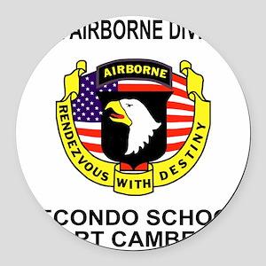 Army101stAirborneRecondoShirtBack Round Car Magnet