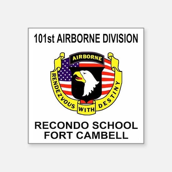 "Army101stAirborneRecondoShi Square Sticker 3"" x 3"""