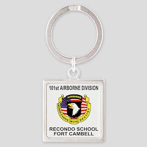 Army101stAirborneRecondoShirtBackC Square Keychain