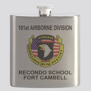 Army101stAirborneRecondoShirtBackColor Flask