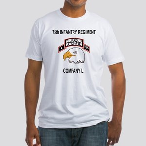 Army101stAirborneDivLCompany75thShi Fitted T-Shirt