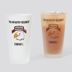 Army101stAirborneDivLCompany75thShi Drinking Glass