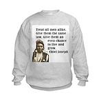 Treat all men alike Kids Sweatshirt
