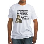 Treat all men alike Fitted T-Shirt