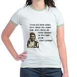 Treat all men alike Jr. Ringer T-Shirt