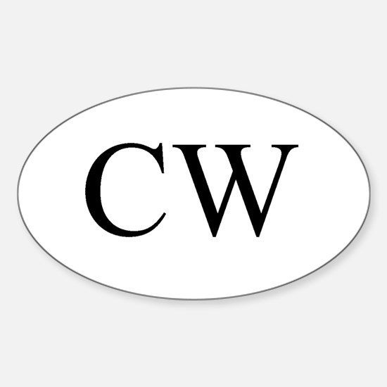 CW Oval Decal