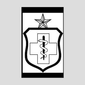 USAFEnlistedMedicalBadgeSenior Sticker (Rectangle)