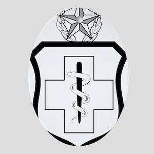 USAFEnlistedMedicalBadgeCommandLevel Oval Ornament