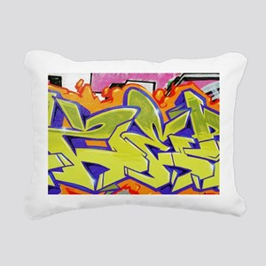 Graffiti Rectangular Canvas Pillow