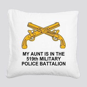Army519thMPBnMyAunt Square Canvas Pillow