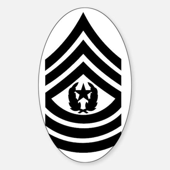 ArmyCommandSergeantMajorSubduedBonn Sticker (Oval)