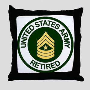 ArmyRetiredSergeantMajor Throw Pillow