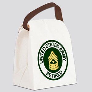 ArmyRetiredSergeantMajor Canvas Lunch Bag
