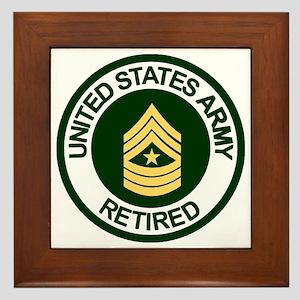 ArmyRetiredSergeantMajor Framed Tile