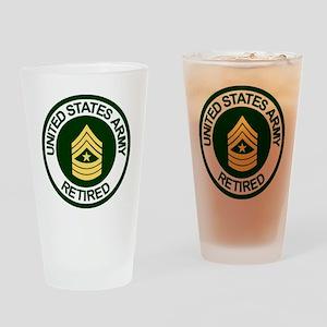 ArmyRetiredSergeantMajor Drinking Glass