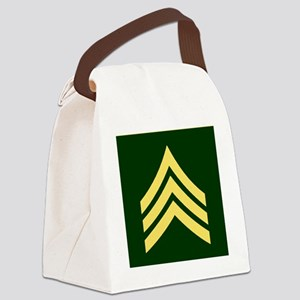 ArmySergeantBonnieTileCoaster Canvas Lunch Bag