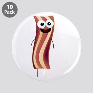 """Happy Bacon! 3.5"""" Button (10 pack)"""